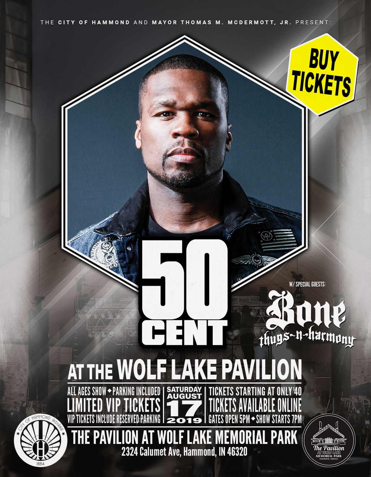 Get 50 CENT Tickets Now!